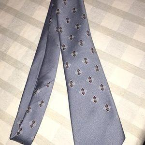VTG geo cravats tonino Firenze polyester tie men's